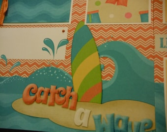 Catch a Wave Premade 12x12 Scrapbook Pages for the Beach Boy GIRL SUMMER
