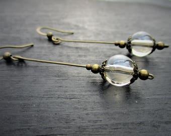 Antiqued Brass Dangle Drop Earrings