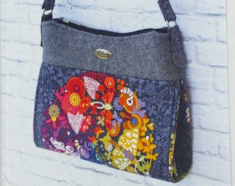 The Gabby Bag by Emmaline Bags, Printed Paper Sewing Pattern, Purse, Tote, Case, Handbag