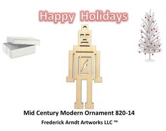 820-14 Mid Century Modern Christmas Ornament