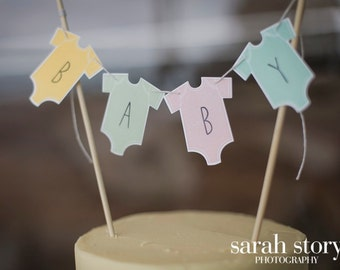 Baby 'Onesie' Cake Bunting topper