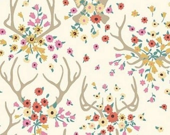 Floral Antlers Pillowcase - fits 13 x 18 Travel or Toddler Pillow