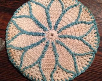 Antique Crochet POT HOLDERS (3)