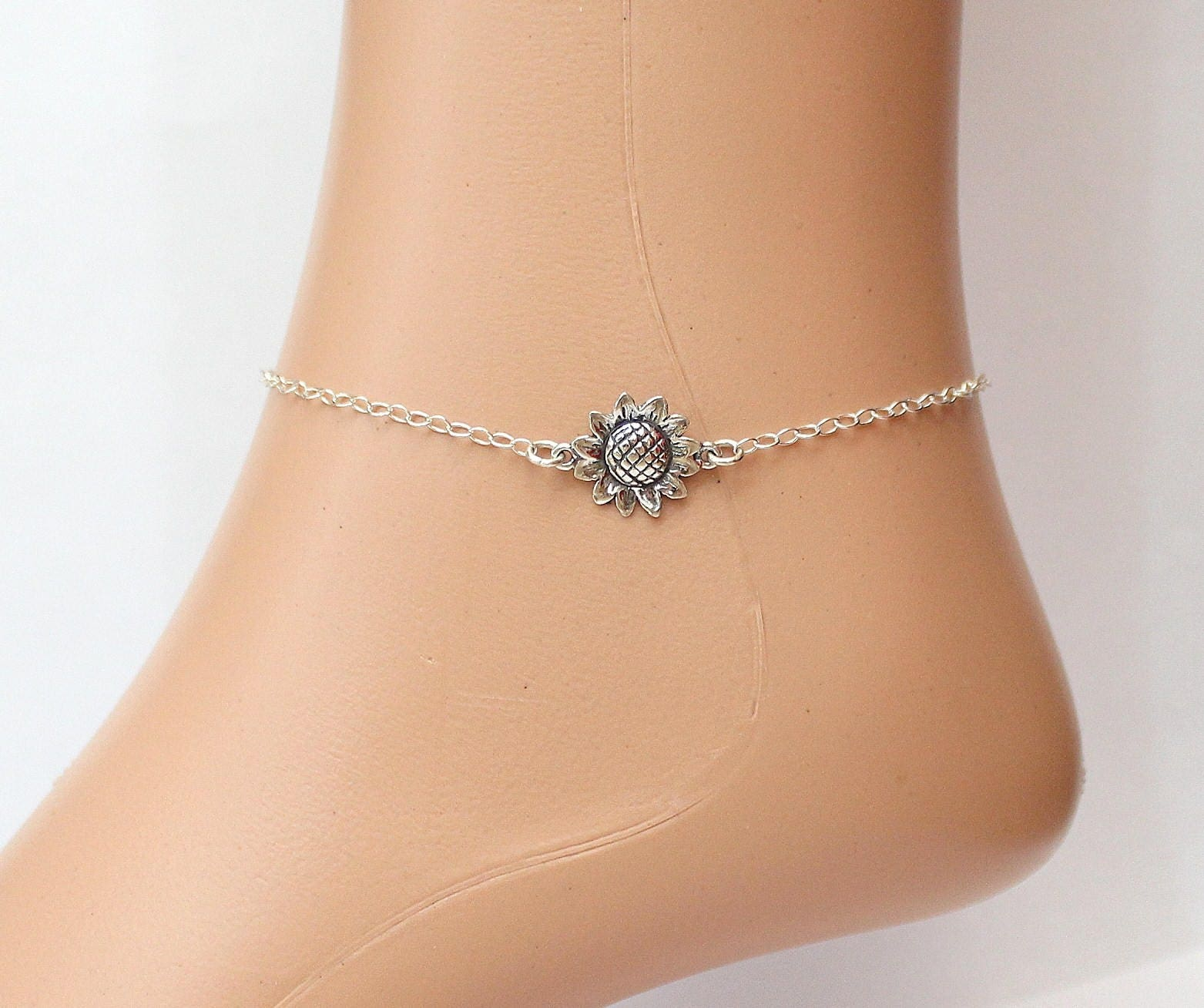 link cut anklet ankle pin diamond bracelet laser and gold textured white inch