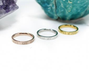 Personalized Ring + Stainless Steel Ring + Custom Ring + Rose Gold Ring + Stackable Ring + Promise Ring + Stacking Rings + I Am Enough Ring