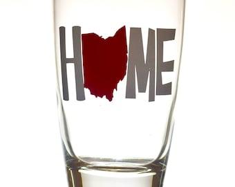 Ohio - Home 16 oz Pint Glass