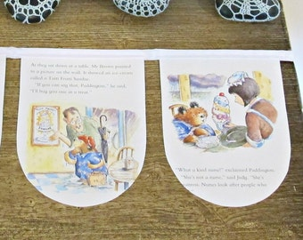 Paddington Bear Bunting Birthday - Nursery Decor Party Little Golden Book Supplies - Baby Shower Wall Hanging Garland Banner - New Gift Room