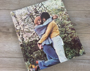 Retro 70's Photography Album, Couple in Love, 70's fashion, Blooming Cherry Tree, Photo Book, Vintage, Family Pictures, Memories, Gift