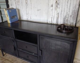 Industrial style buffet Cabinet all steel