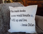 Book Lover Reading Pillow...
