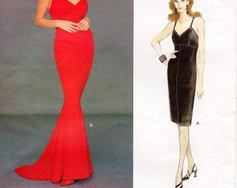 Sz 14/16/18 - Vogue Dress Pattern 1367 by TOM and LINDA PLATT - Misses' Fitted Mermaid Slip Dress in Two Lengths - Vogue American Designer