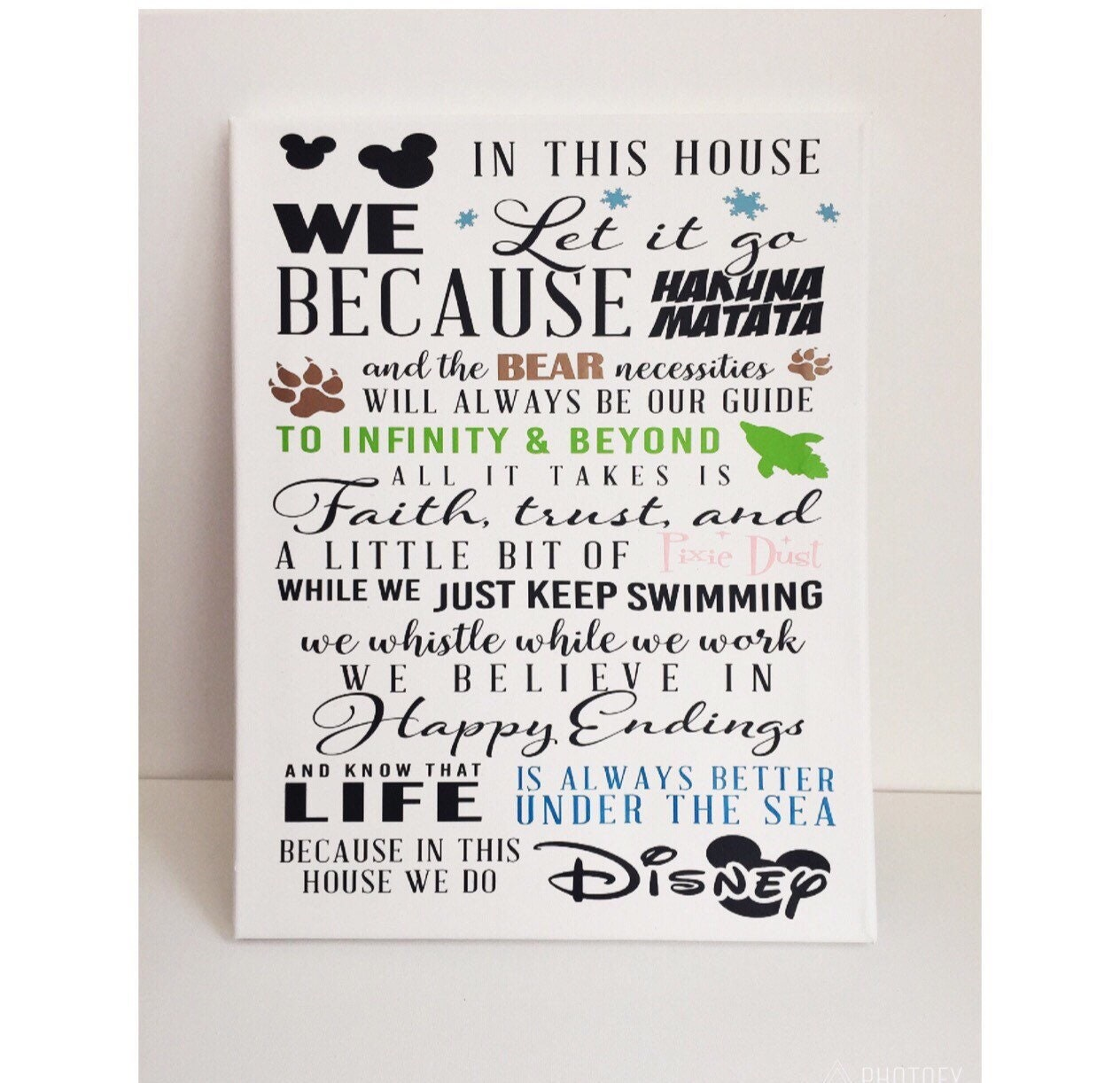 In This House We Do Disney   Wall Art   Disney Family Sign   Hanging Sign