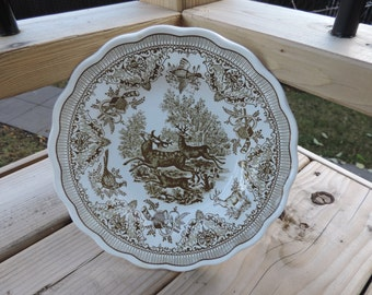 Plate - Flat Fontebasso - Italy - hunting décor