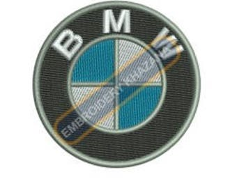 Bmw logo machine embroidery designs instant download
