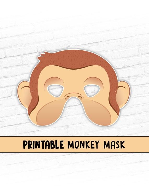 NEW Monkey Printable Halloween Mask Curious George Costume