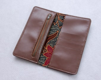 Phone Long Wallet  //  Phone Wallet Card Holder // Leather Iphone Case // Phone Wallet // Brown