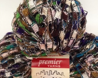 Premier City Life Ladder Yarn, Color-Hostas, Content-Polyamide, Acrylic, Glitter; Worsted Weight