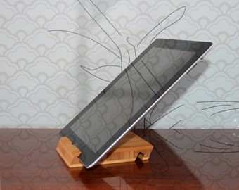 Bamboo iPad stand, iPad dock, wood iPad stand, iPad holder, wooden ipad stand, ipad dock, docking station, tablet stand, wood ipad stand