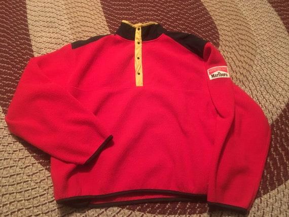 90s Marlboro Unlimited vintage fleece zip up jacket sweatshirt rare insane dope fresh cigarettes classic throwback streetwear old school 80s jT2a6