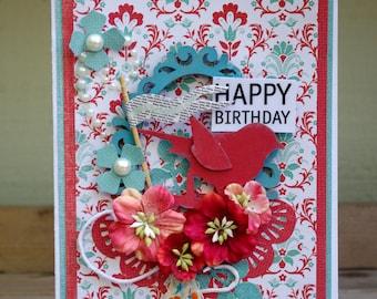Happy Birthday Card Art Hand Made OOAK