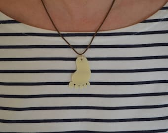 Baby Foot Pendant Necklace