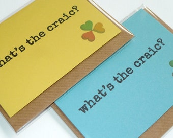 What's The Craic? - Irish Slang - Funny Magnetic Greeting Card - Handmade in Ireland