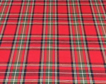Christmas Plaid Christmas Table Christmas Tablecloth Red Plaid Tablecloth  Christmas Gift Tartan Runner Tartan Tablecloth Red Tablecloth