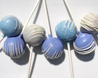True Blue Drizzle Cake Pops