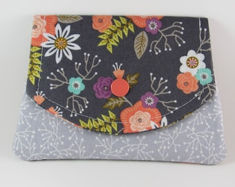 Womens Fabric Wallet, Fabric Women's Wallet, Credit Card Holder, Gift Card Holder, Holiday Gift For Her Under 20