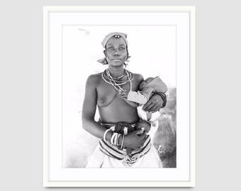 Made-to-order African Africa Desert Local Himba Village Photography Print Large Wall Art