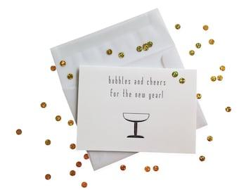 Confetti Bubbles and Cheers letterpress card