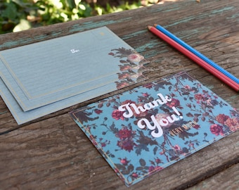 Thank You Post Cards - Set of Ten - Floral card set