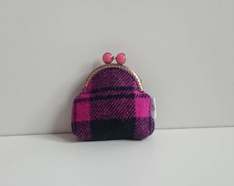 Harris Tweed Coin Purse (Pink)