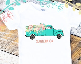 Southern Girl Onesies®, Baby Girl Onesie, Baby Girl Clothes, Farm Girl Onesie, Graphic Onesie, Shabby Chic Baby, Cute Baby Clothes, Onesies®
