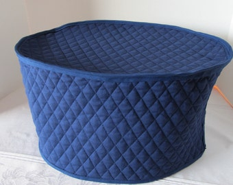 Navy Blue Oval Crock Pot Kitchen Small Appliance Covers Made to Order