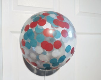 Red and Blue Balloons, Red and Blue Baby Shower, Red Balloons, Blue Balloons, Confetti Balloons, Dr Seuss Party, Dr Seuss Baby Shower