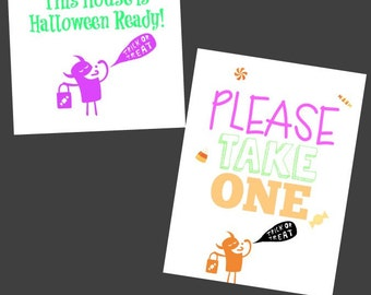 YES We have Halloween Candy Halloween Printables! (Includes 2 Instant Downloads!)