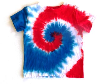 how to make a red and white tie dye shirt
