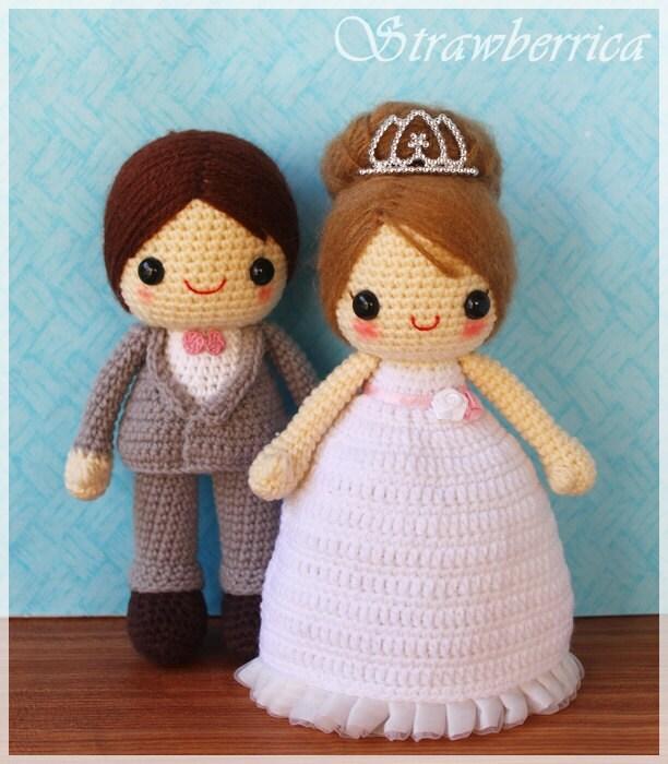 Crochet Wedding Gift Patterns: PDF Crochet Pattern Bride And Groom