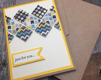 Mosaic greeting card etsy for you card any occassion card card of anyone special person card publicscrutiny Image collections