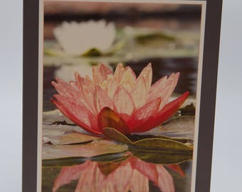 "Photo Greeting Card - Lotus Flower - Folded 5""x7"""