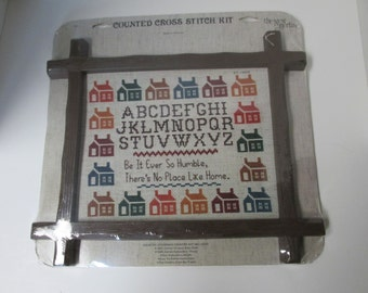 Vintage Counted Cross Stitch Kit There's No Place Like Home 1985