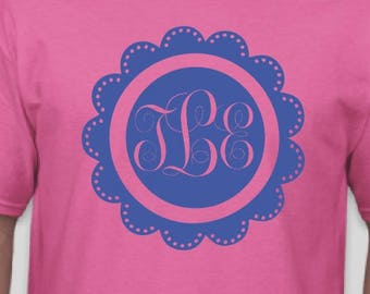 Easter Monogrammed Circle - Completely customizable