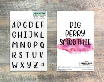 Big Berry Smoothie Alpha Stamp Set - 27 Piece Stamp Set - ByTheWell4God
