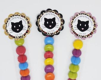 Cat Birthday Party, Cat Party Favors, Cat Lolly Tube, kitty birthday party, cellophane treat tube, kitty party favors, kitty party, kitten
