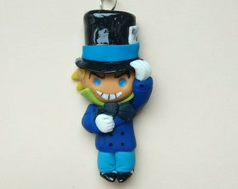 doll mad hatter.necklace mad hatter.jervis tetch.chibi.colgante sombrereroloco