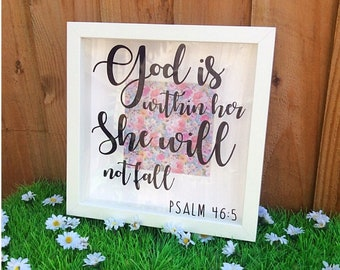 Psalm 46 Bible Scripture Shadow Box Frame
