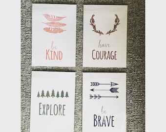 Nursery set of four 6x4 prints