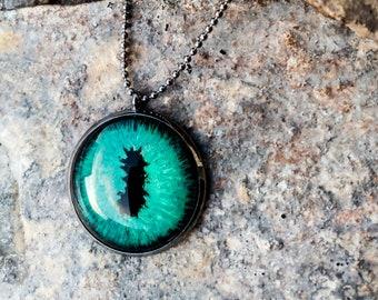 Green Dragon Eye Pendant