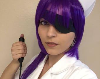 Purple Indigo Minene Uryuu Future Diary Cosplay Ponytail Wig